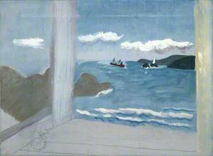1931 (St Ives Bay: sea with boats)