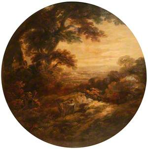 Landscape with Man and Donkey