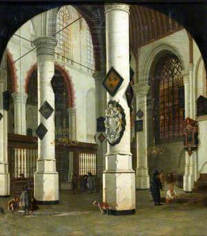 Interior of the Oude Kerk at Delft