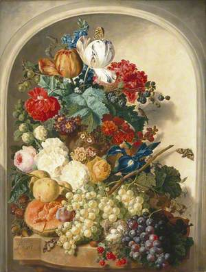 Still Life: Flowers and Fruit