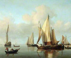 Seascape with Yachts Moored in a Calm