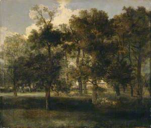 Woodland Scene with Sheep (Chapel Fields)