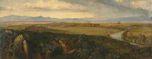 View in the Campagna, Rome (with a River)