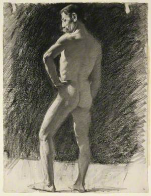 Life Drawing of a Male Nude