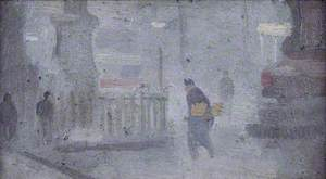 Study for 'Base of Statues, Albert Square'