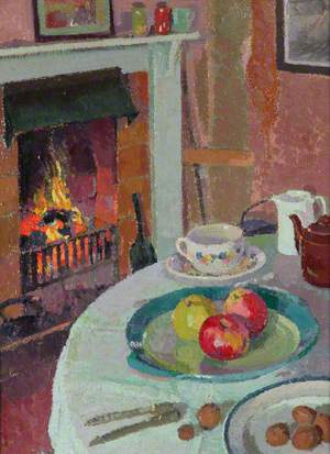 Still Life by the Fire