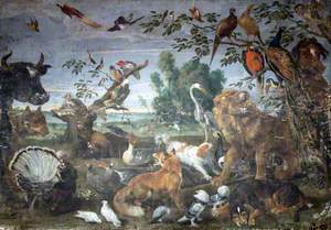 Landscape with Birds and Animals
