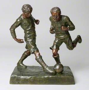 Two Figures of Footballers