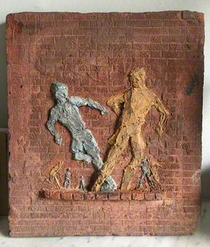 Maquette for 'Boys Playing Football'