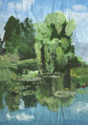 Garden with Trees and a Pond