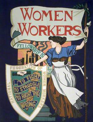 National Federation of Women Workers Banner