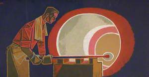Glassblower at Red Furnace