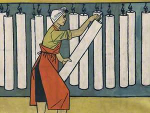 Millworker in Headscarf