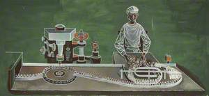 Woman at Bottle Machine
