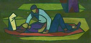 Man Leaning Over Woman