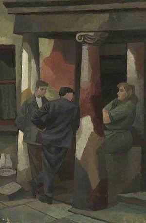 Men and Women in Doorway