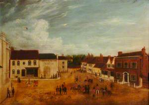 Bishop's Waltham Square, after the Removal of the Old Market House