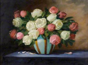 Pink and White Roses*