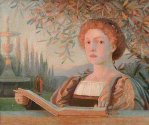 Portrait of a Girl with an Open Book