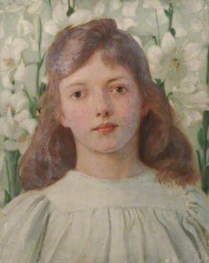 Portrait of a Girl amongst Madonna Lilies