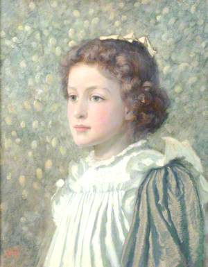 Portrait of a Young Girl with a Ribbon in her Hair