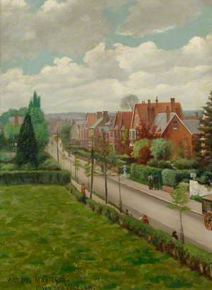 Road Leading into Alton from the Upper Windows of Eggar's Grammar School