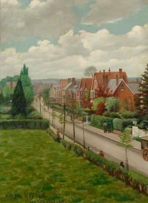 Road Leading into Alton from the Upper Windows of Eggar's Grammar School