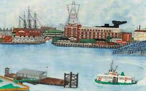 Gosport Pontoon and the Semaphore Tower, Portsmouth