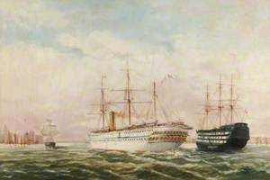 Troopship 'Seraphis' Leaving Portsmouth Harbour