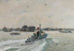 Admiral Ramsay Reviewing the Fleet before D-Day