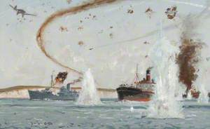 Air Attack by Luftwaffe on Channel Convoy