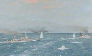 HMS 'Warspite' with Destroyers at the Second Battle of Narvik, 13 April 1940