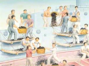 Coaling Ship by Baskets