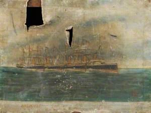 HMS 'Beagle', HMS 'Swallow', 'Basilisk' and 'Flora'