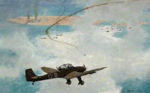 Malta under Air Attack by Junkers 87 Dive Bombers