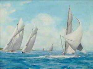 'J' Class Yachts in the Solent, 1911–1912