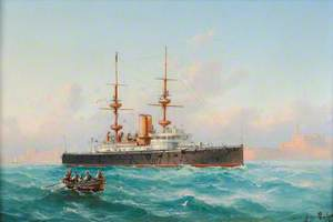 HMS 'Royal Sovereign' off Malta