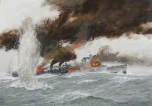 The Destroyer HMS 'Glowworm' Rams the German Cruiser 'Admiral Hipper', 8 April 1940