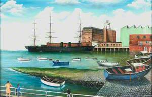HMS 'Warrior' at Her Berth in Portsmouth