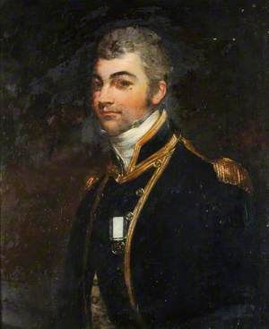Sir Edward Hamilton Wearing a Small King's Gold Medal for the Recapture of 'Hermione' by Surprise, 25 October 1799