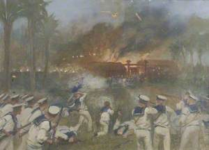 Attack on the Japanese Battery at Shimonoseki by a Naval Brigade, September 1864