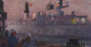 HMS 'Brazen' Replenishing Stores from RFA Fort Grange