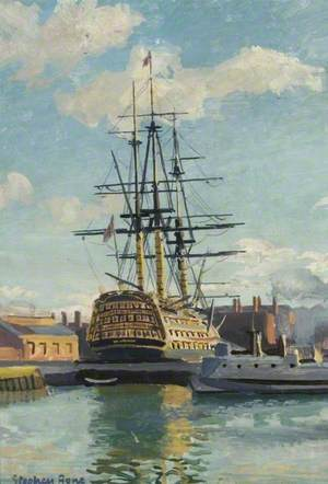 HMS 'Victory' in Dry Dock