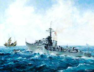 HMS 'Charity', Incident off Inchon, September 1950