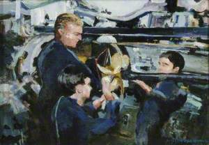 Loading Torpedo Tube, HMS 'Renown'