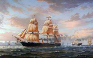 HMS 'Warrior' Escorting the Royal Yacht 'Victoria and Albert', March 1863