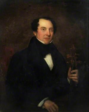 Portrait of a Gentleman Holding a Cello
