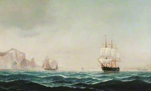 Ships Rounding 'The Needles'
