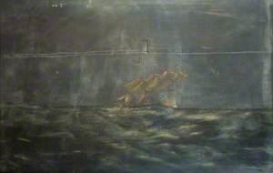 Naval Ship off Freshwater Bay