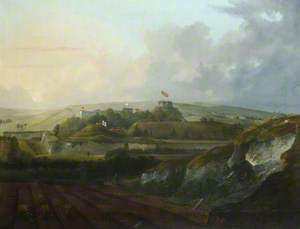 Carisbrooke Castle from Mount Joy as it Appeared on 23 August 1831, the Day the Duchess of Kent was There to View the Archery